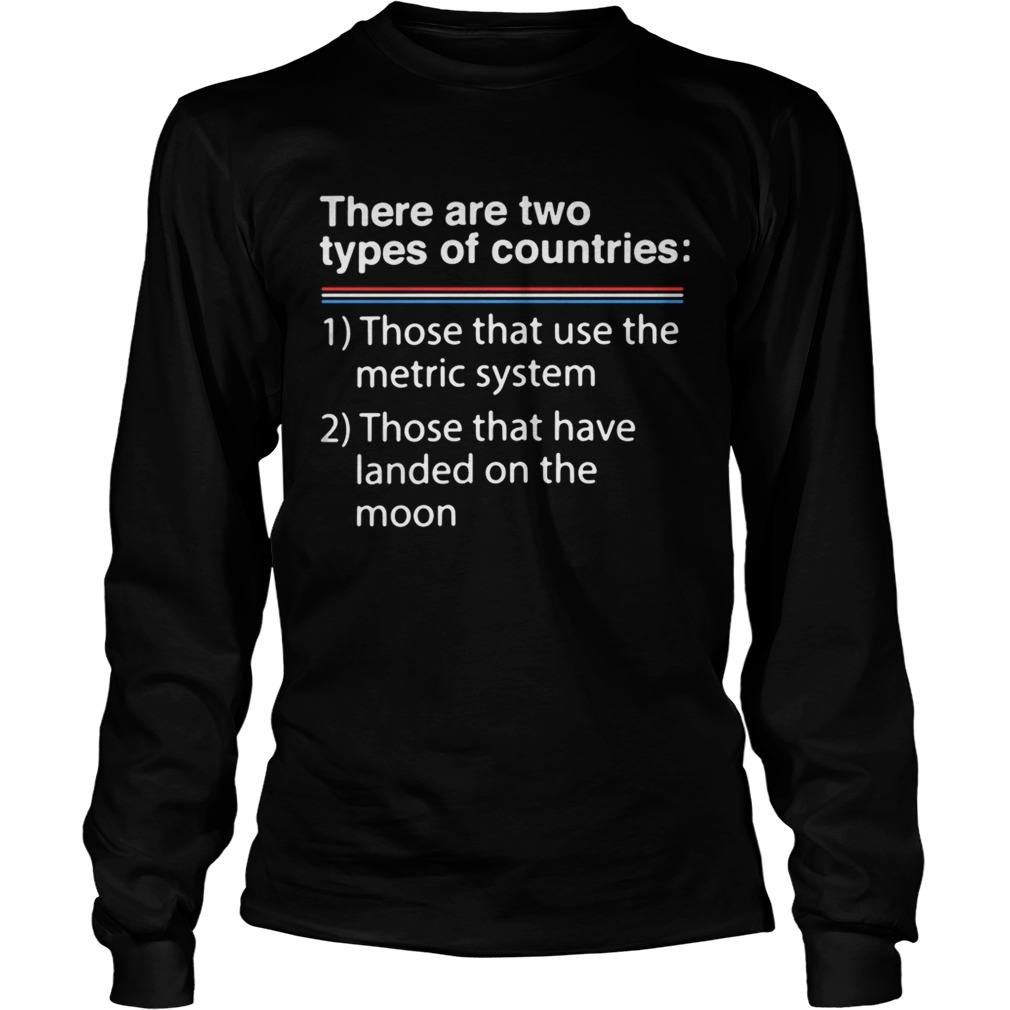 There are two types of counries those that use the metric system LongSleeve