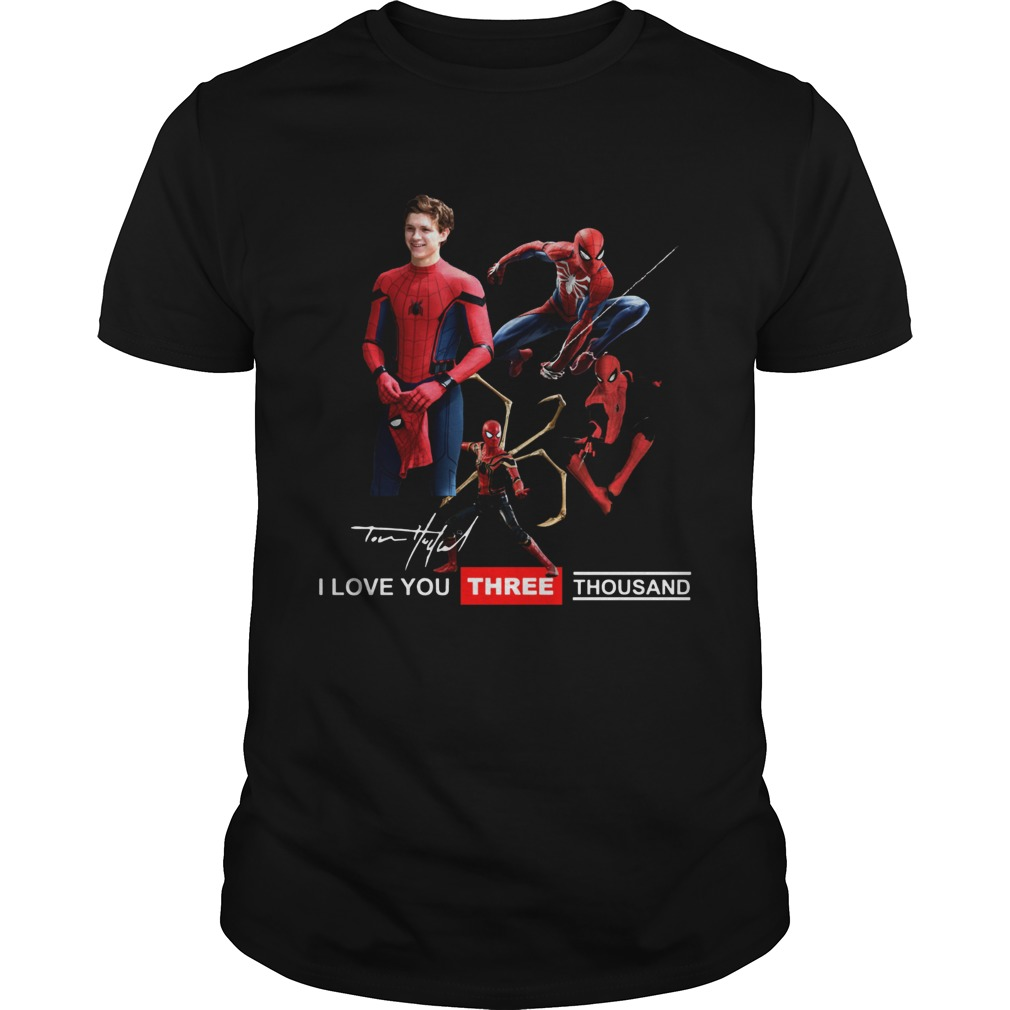 Tony Parker Spiderman I love you three thousand shirt