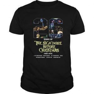 26 Years of The Nightmare Before Christmas 1983 2019 shirt