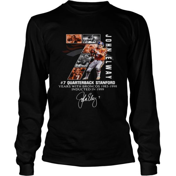 7 John Elway Quarterback Stanford years with Broncos 19831998Recovered LongSleeve