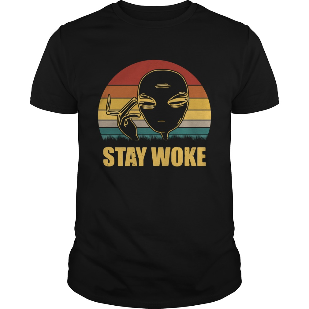 Alien smoke stay woke vintage shirt