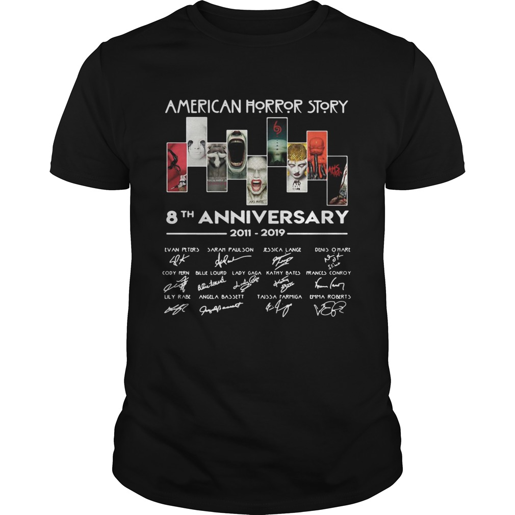American Horror Story 8th anniversary signature shirt