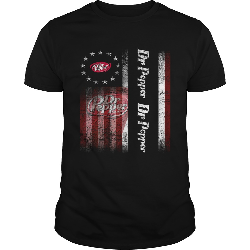 Betsy Ross flag Dr Pepper shirt