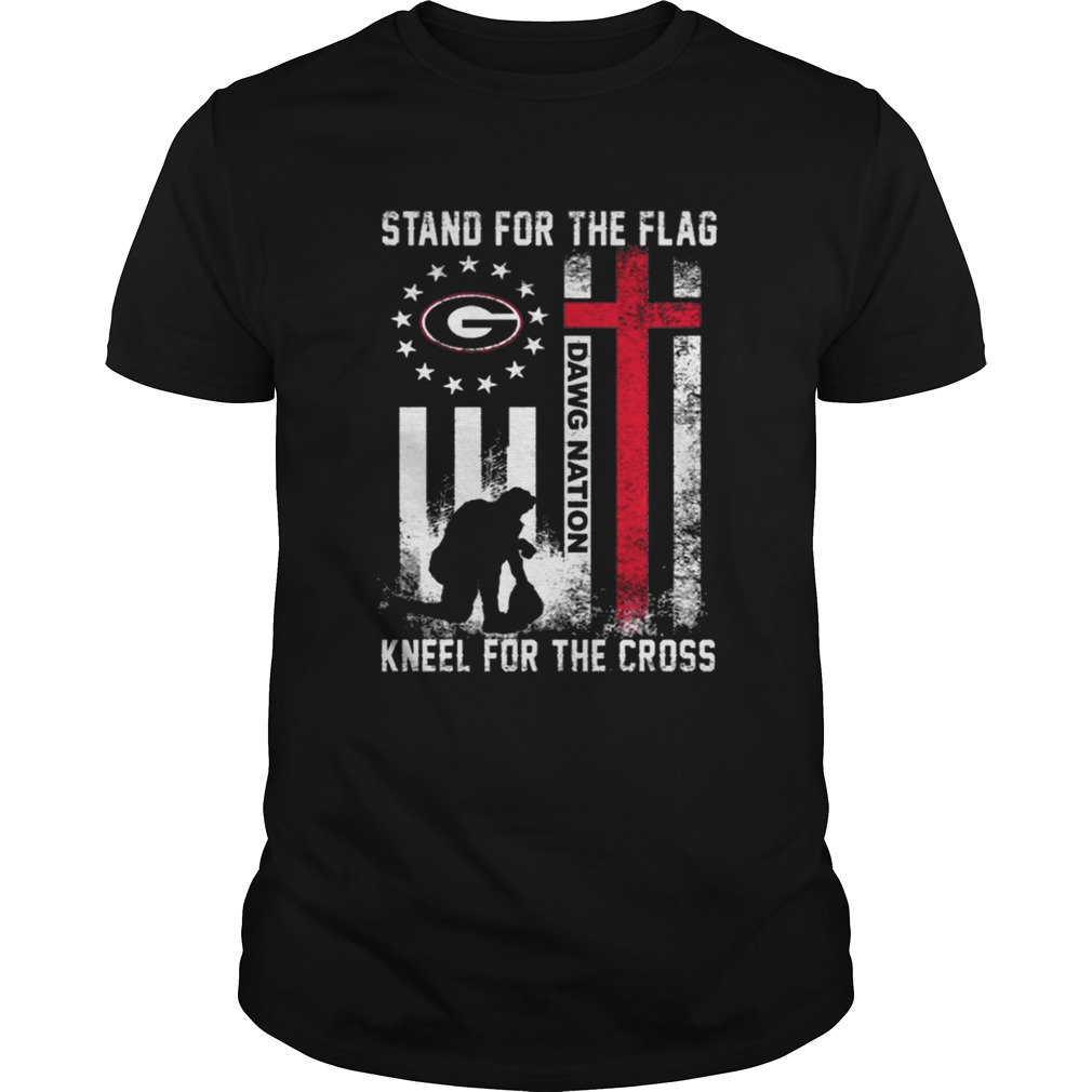 Betsy Ross flag Stand for the flag DawgNation Georgia Bulldogs shirt