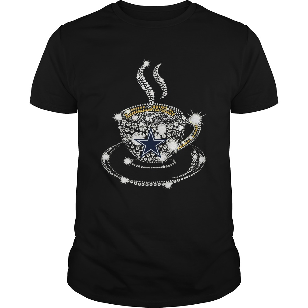 Coffee Dallas Cowboys rhinestone shirt