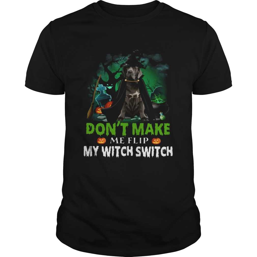 Dont Make Me Flip My Witch Smitch Neapolitan Mastiff Witch Lovers JackOLanterns Halloween Shirts Unisex