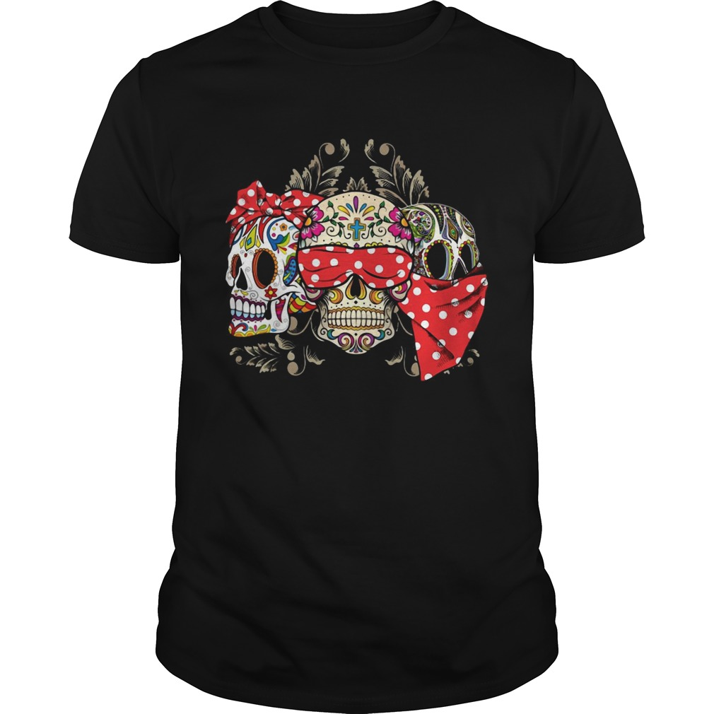 Dont miss this deal on three skull floral Unisex