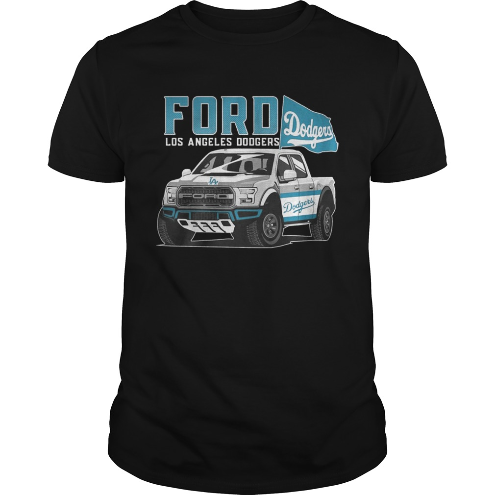 Ford Los Angeles Doogers Flag Baseball Team Fans Mustang Car Lovers Shirts