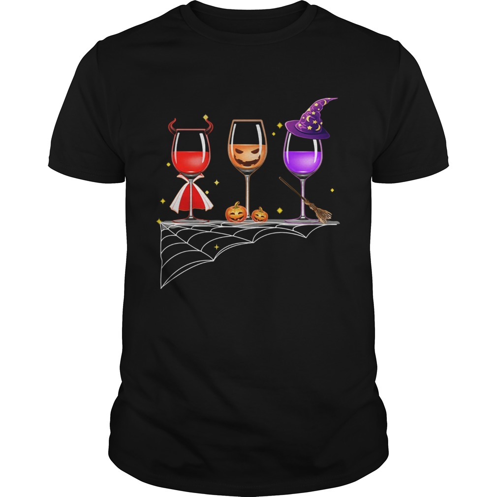 Halloween glasses of wine shirt