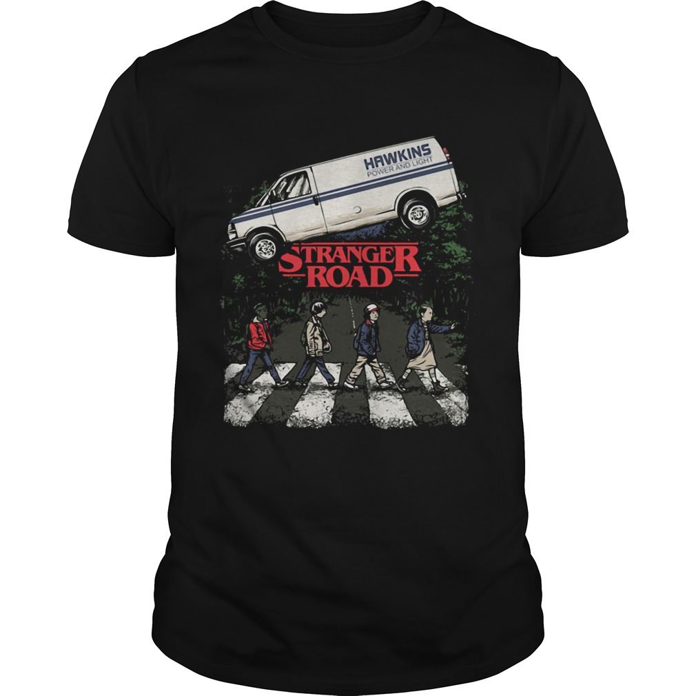Hawkins power and light Stranger Road Stranger Things shirt