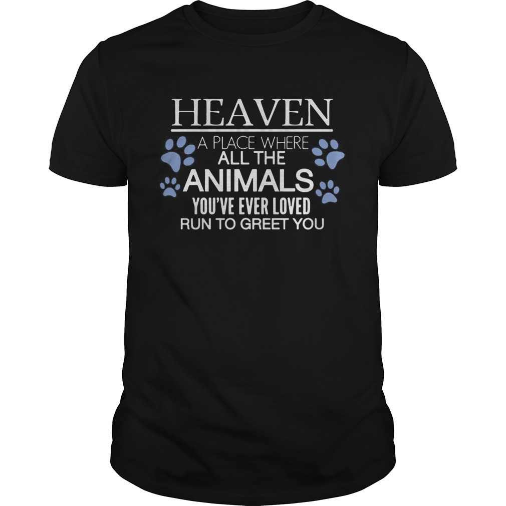 Heaven A Place Where All The Animals Youve Ever Loved Run To Greet You Tshirt
