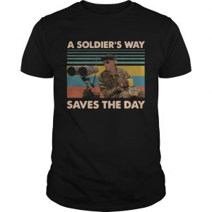 Mark Rumsfield A soldiers way saves the day vintage shirt