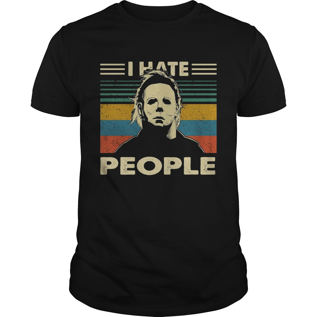 Michael Myers I hate people vintage shirt
