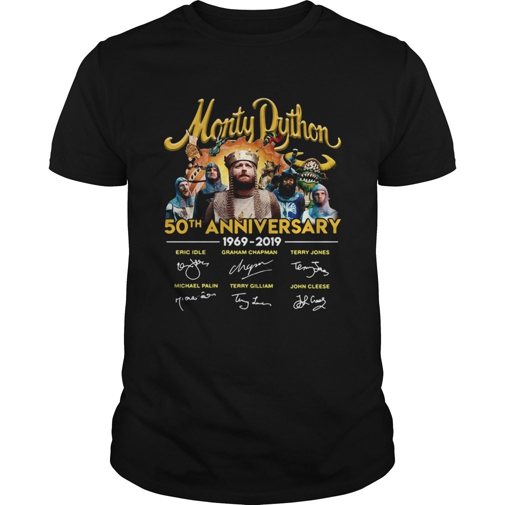 Monty Python 50th Anniversary 19692019 signatures shirt