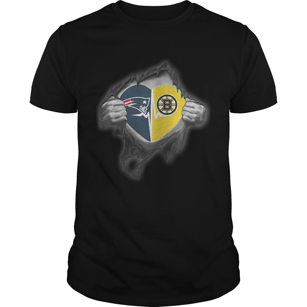 Patriots Bruins Its in my heart inside me shirt