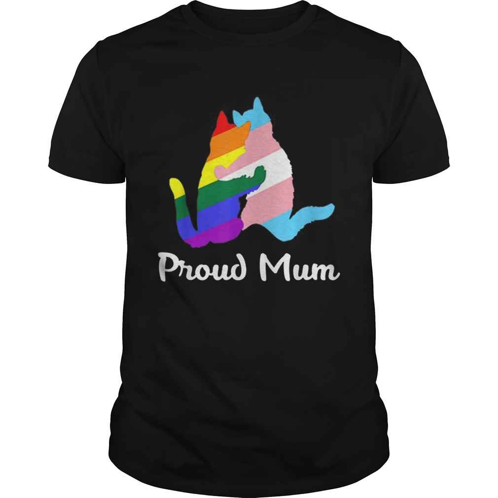 Pretty Proud Mum LGBT Gay Pride Month Rainbow Flagshirt