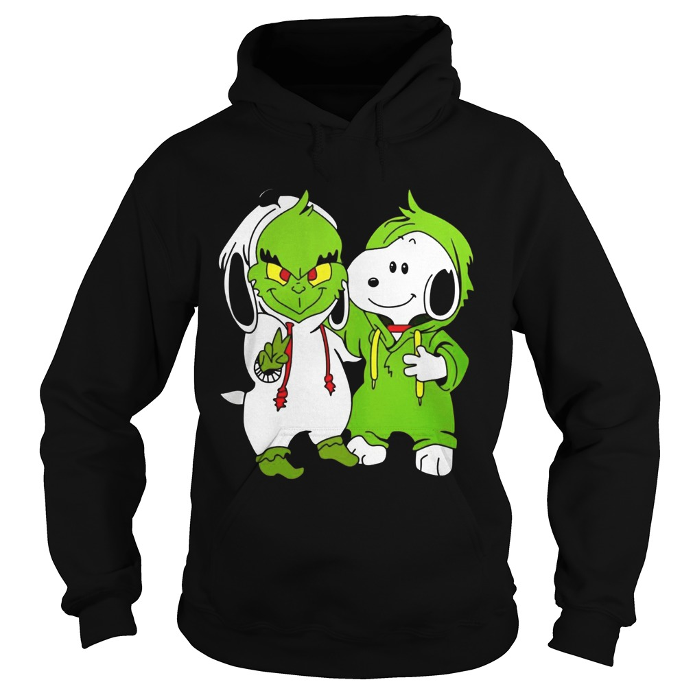 Snoopy And Grinch Fushion Peanuts How The Grinch Stole Christmas Fans Shirts Hoodie