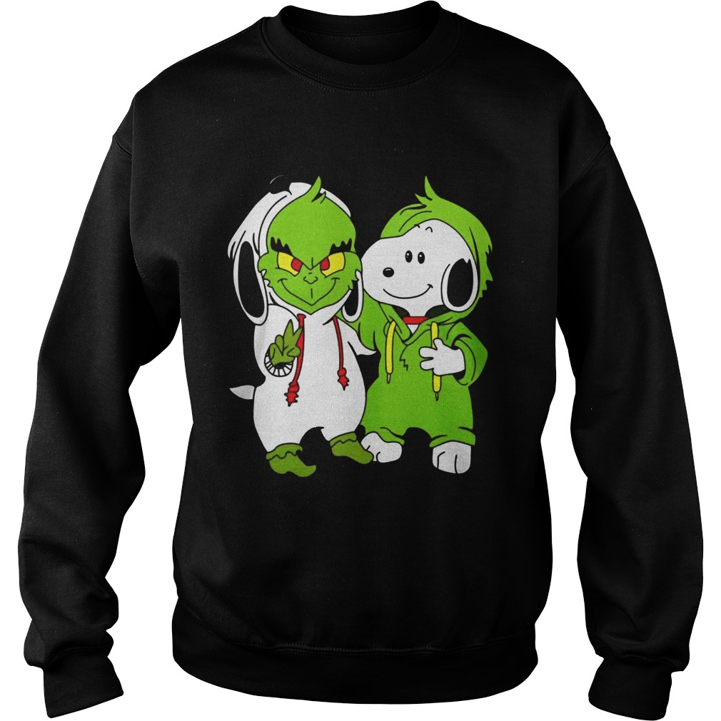 Snoopy And Grinch Fushion Peanuts How The Grinch Stole Christmas Fans Shirts Sweatshirt