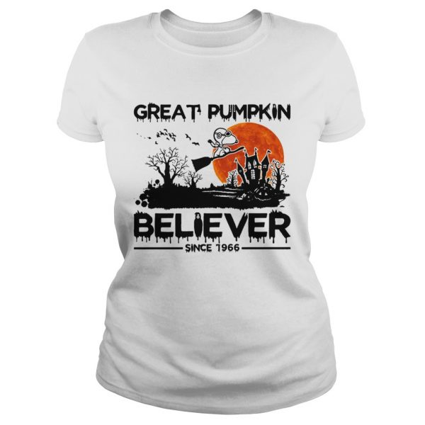 Snoopy Great pumpkin believer since 1966 Halloween Classic Ladies
