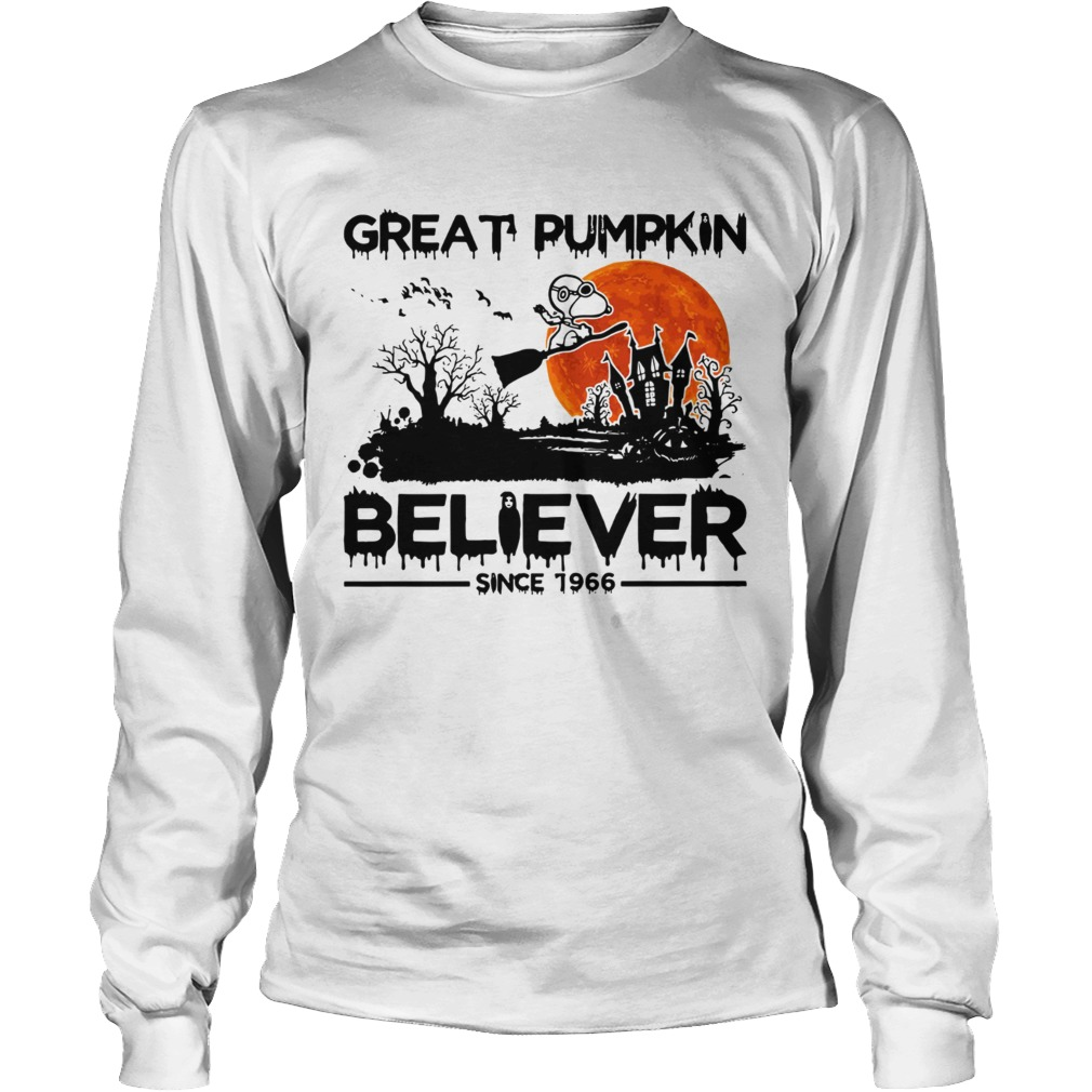 Snoopy Great pumpkin believer since 1966 Halloween LongSleeve