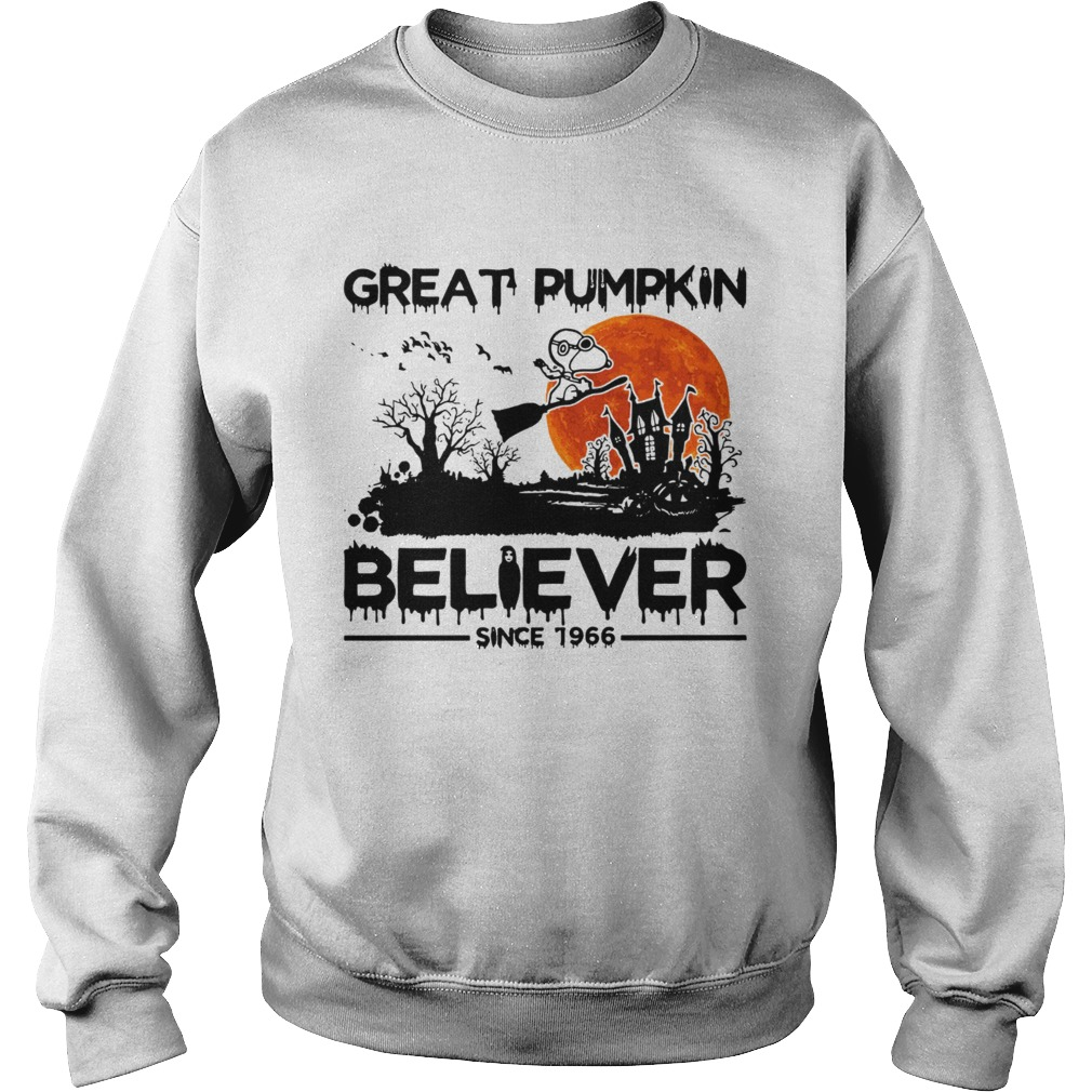 Snoopy Great pumpkin believer since 1966 Halloween Sweatshirt