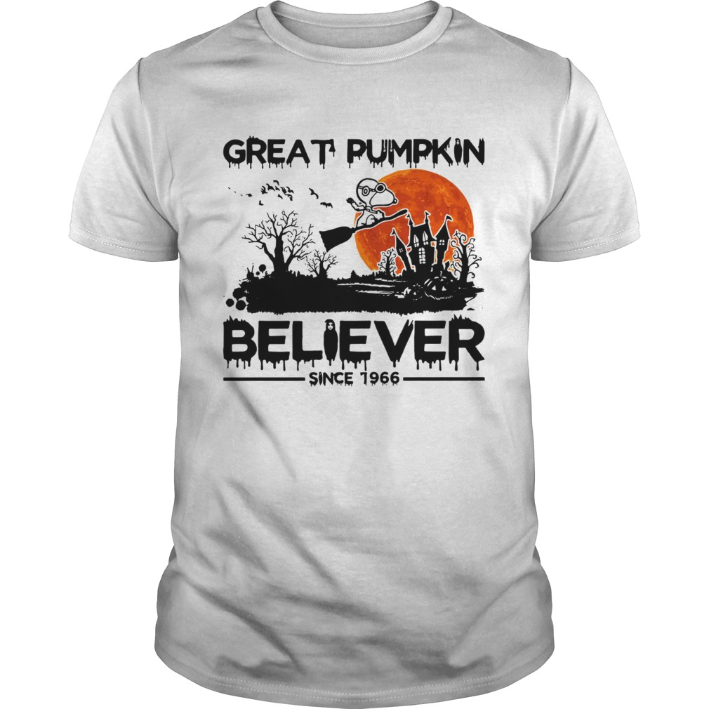 Snoopy Great pumpkin believer since 1966 Halloween Unisex