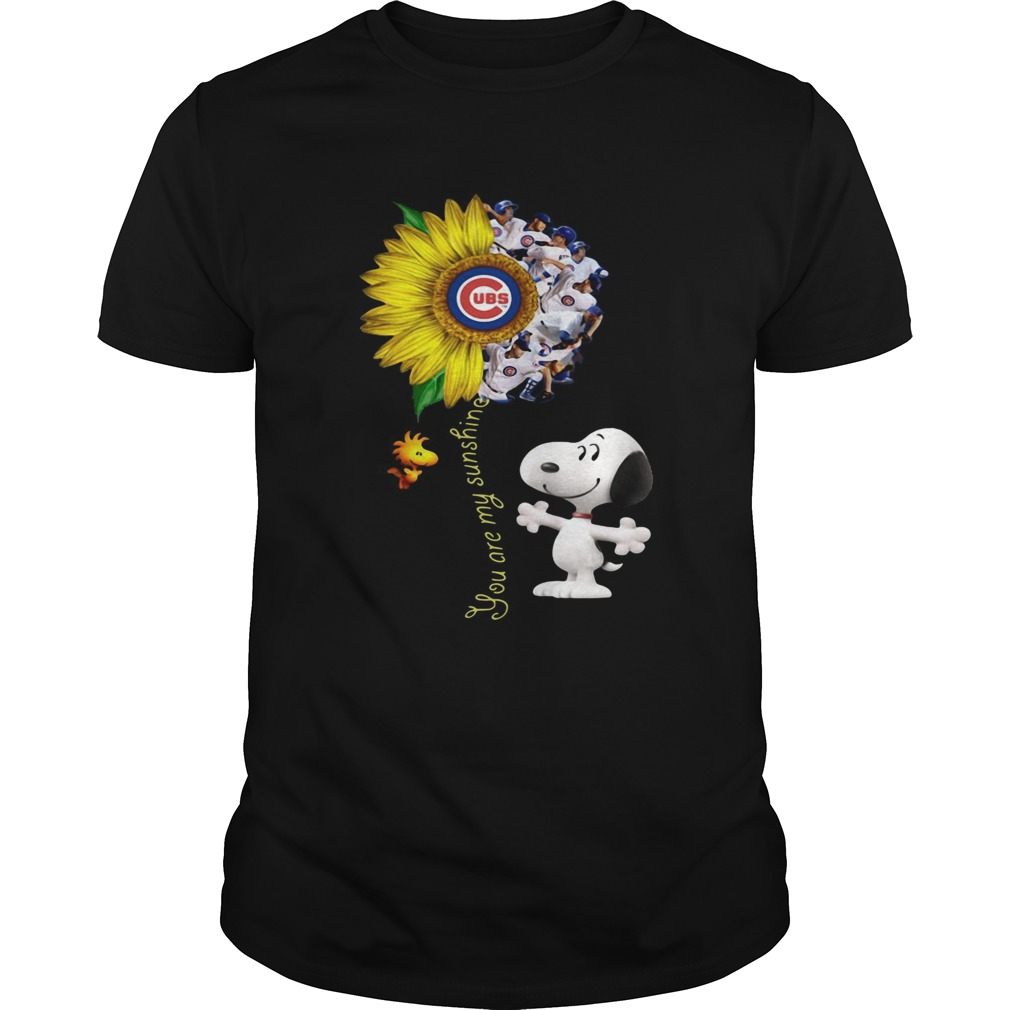 Snoopy and Woodstock you are my sunshine Chicago Cubs sunflower shirt