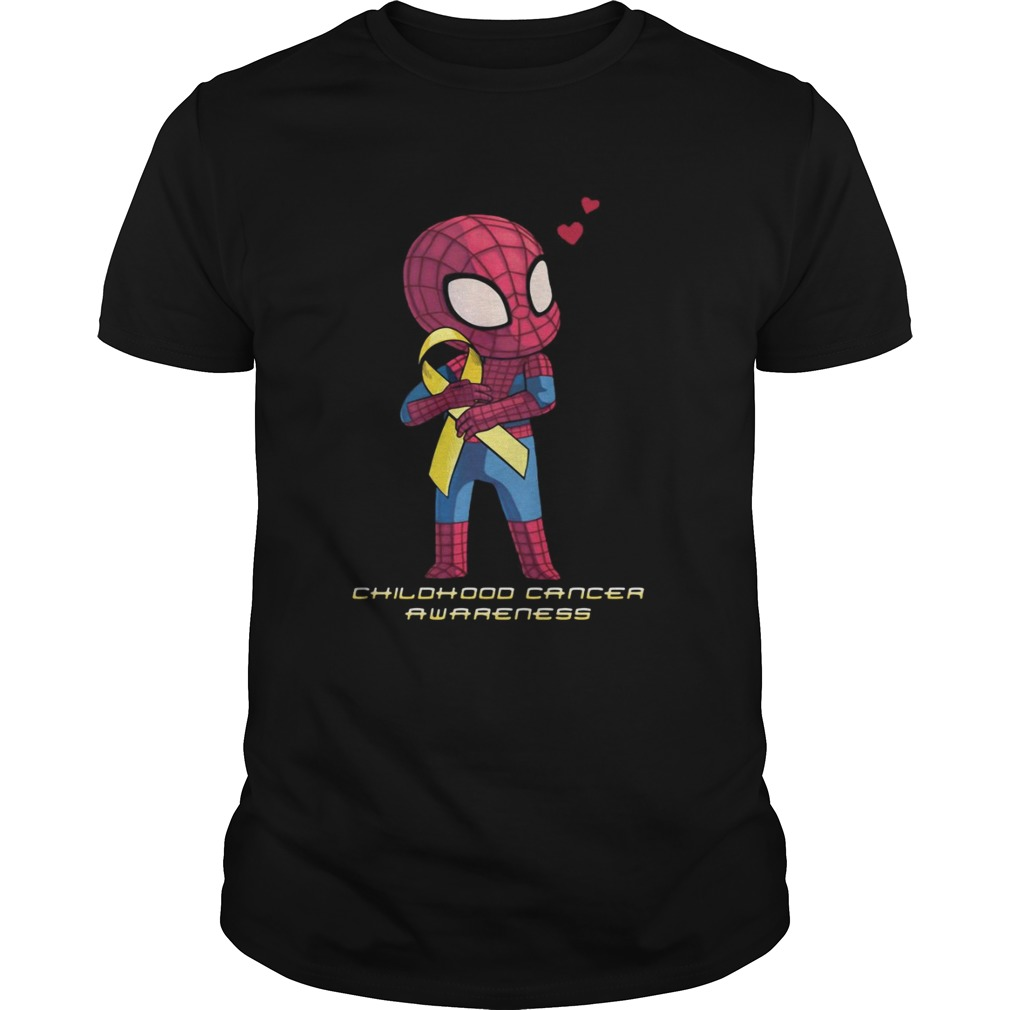 Spider Man childhood cancer awareness shirt
