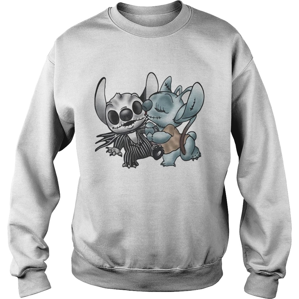 Stitch and Angel Nightmare Before Xmas Sweatshirt