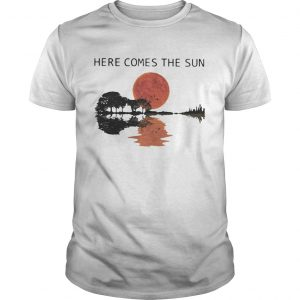 Sunset Guitar lake Here comes the sun shirt