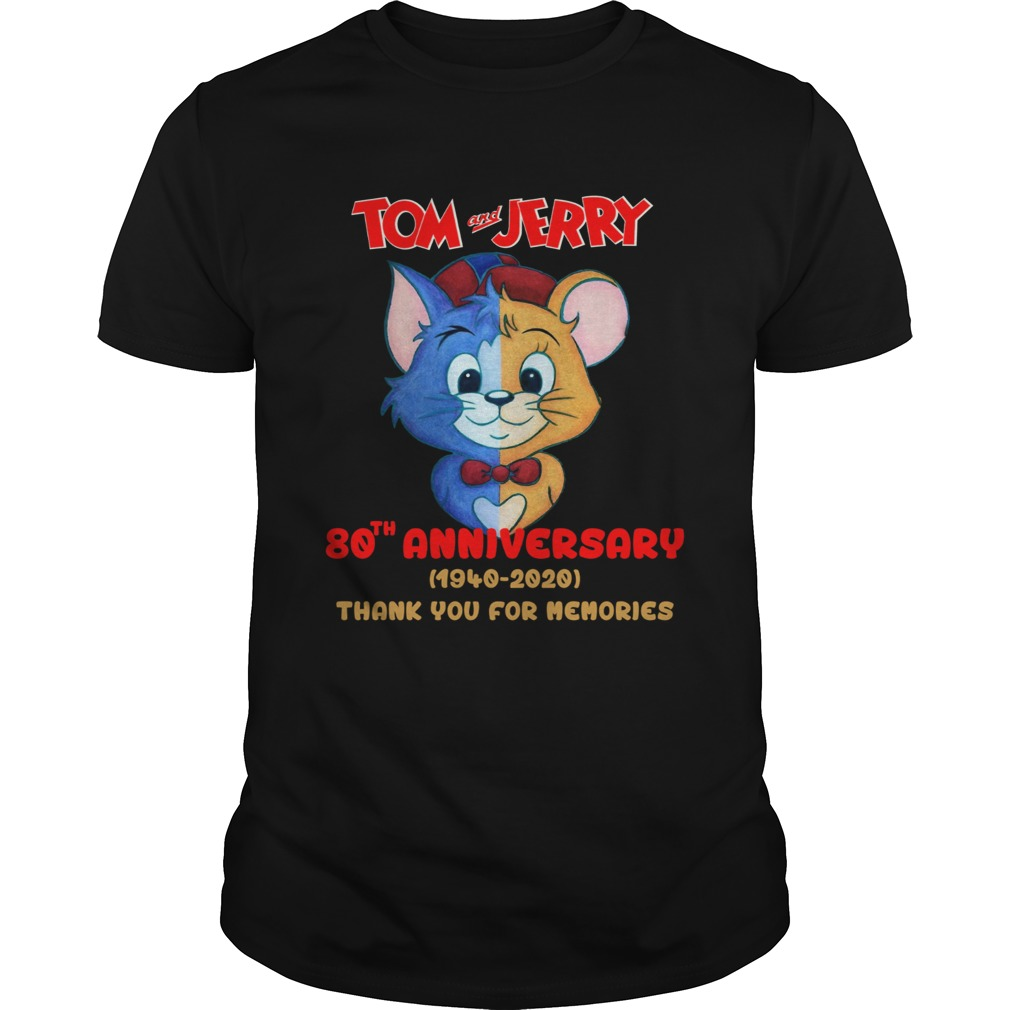Tom and Jerry 80th anniversary 1940 2020 shirt