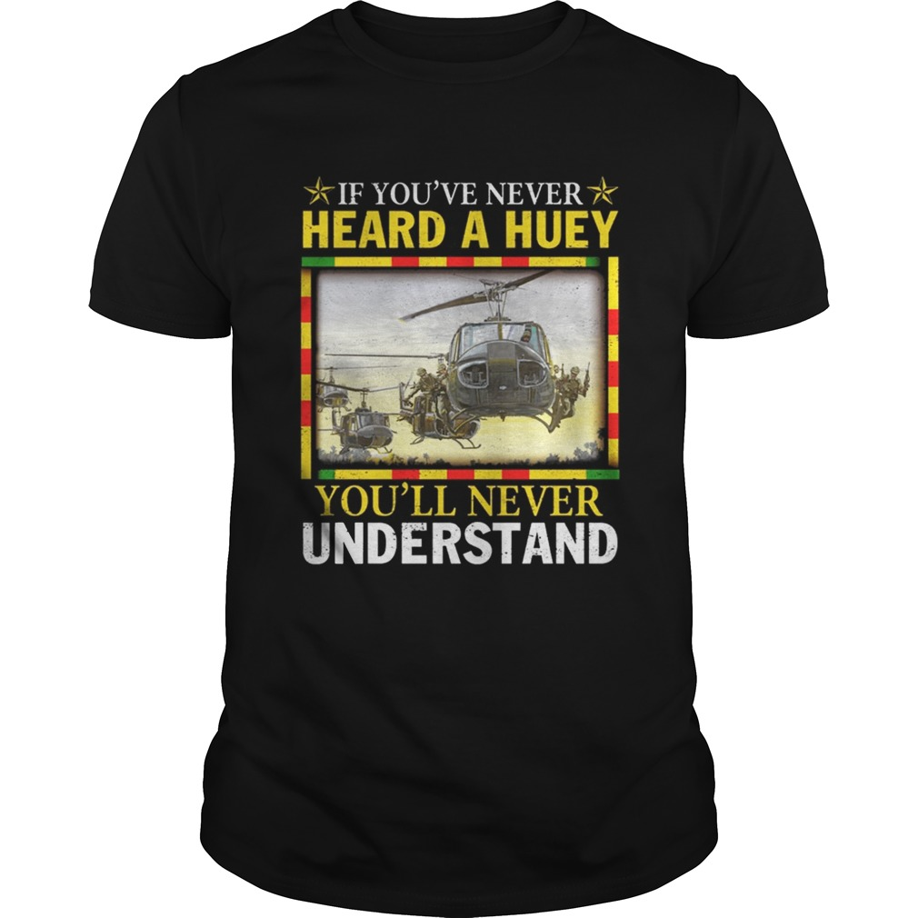 Air Force If youve never heard a huey youll never understand shirt
