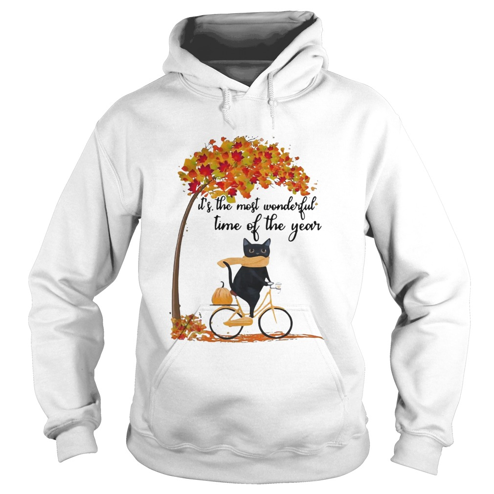 Cat riding bike its the most wonderful time of the year Hoodie