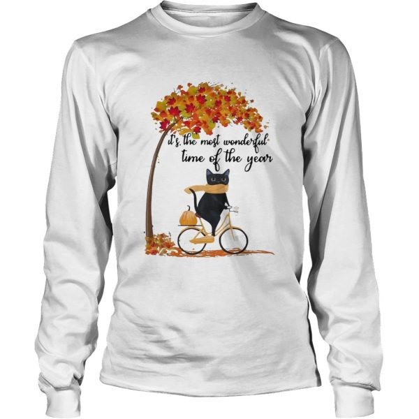 Cat riding bike its the most wonderful time of the year  LongSleeve