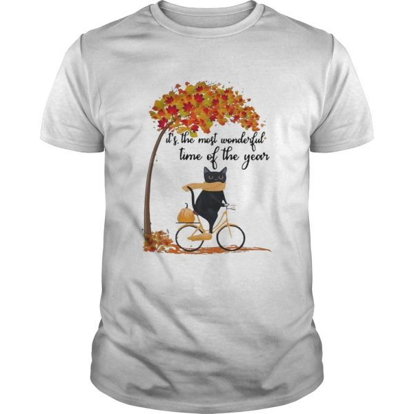 Cat riding bike its the most wonderful time of the year  Unisex