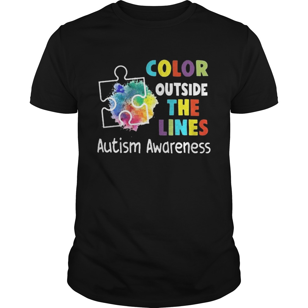Color Outside The Lines Autism Awareness Tshirt