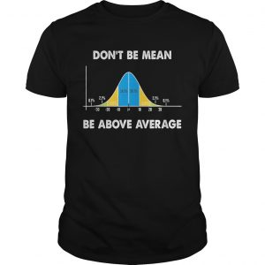 Dont Be Mean Be Above Average Funny Math Lover Gift TShirt