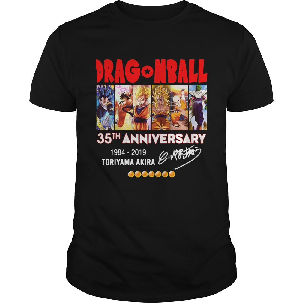 Dragon Ball 35th anniversary 1984 2019 Toriyama akira shirt