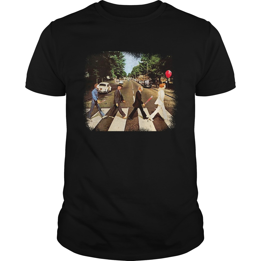 Freddy Krueger Michael Myers Jason Voorhees Abbey Road shirt