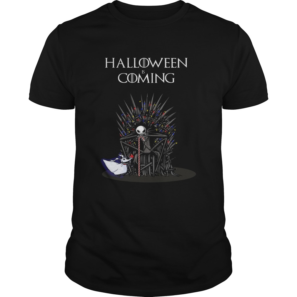 Halloween is coming Jack Skellington iron throne shirt