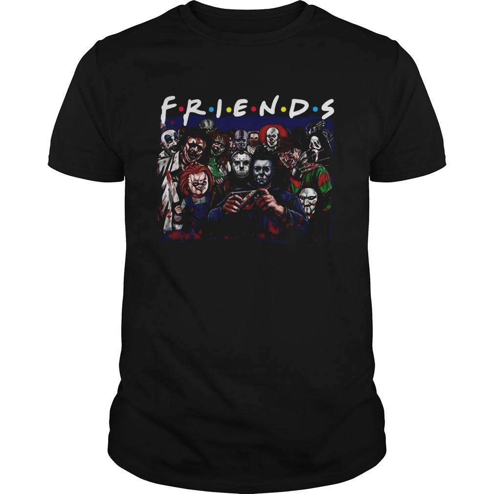 Horror characters friends shirt