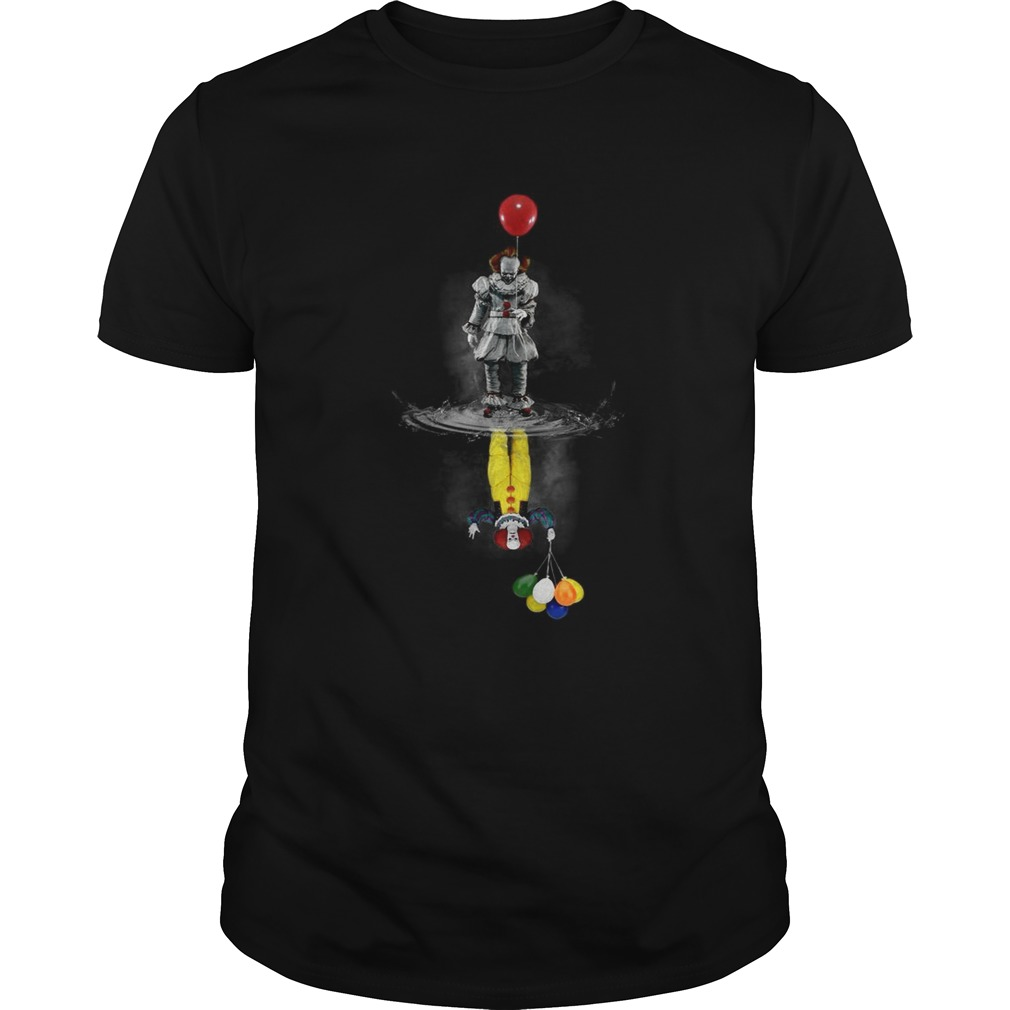 IT Pennywise reflection mirror water Stephen King shirt
