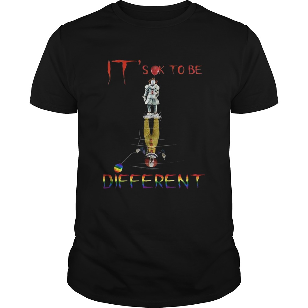 Its ok to be different Pennywise it water reflection autism shirt