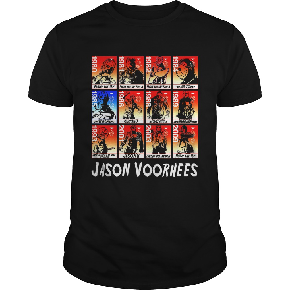 Jason Voorhees Full Season timeline shirt