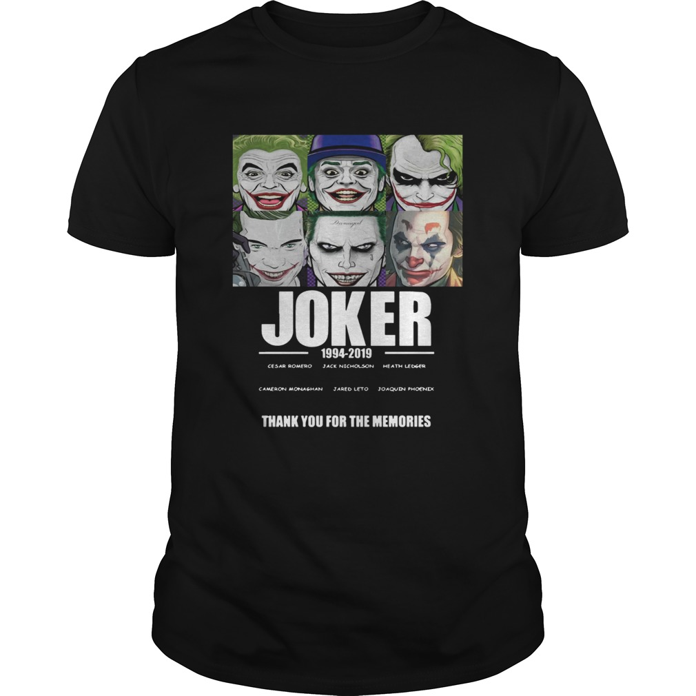 Joker 1994 2019 Thank You For The Memories Shirt