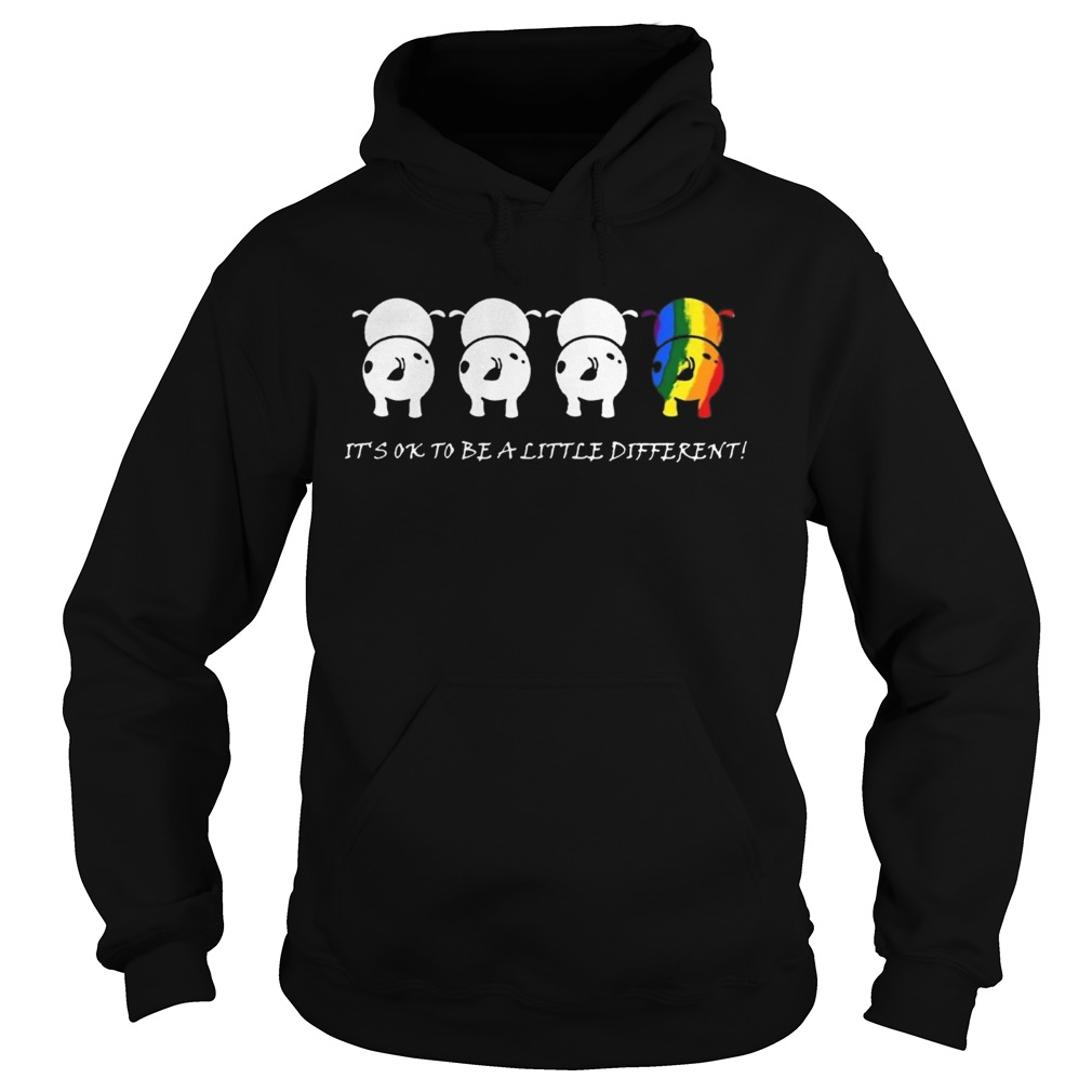 LGBTcow Its ok to be a little different t Hoodie
