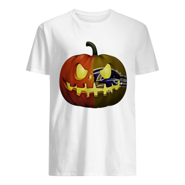 NFL Baltimore Ravens pumpkin Halloween shirt