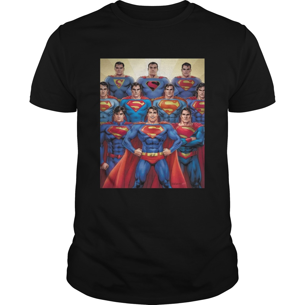 Official 80th Anniversary Superman Through The Decades Shirt