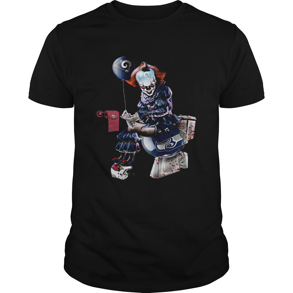 Pennywise Los Angeles Rams San Francisco 49ers and Seattle Seahawks toilet shirt
