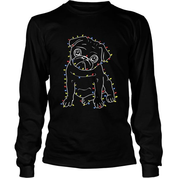 Pug Christmas lights xmas LongSleeve